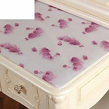 Dresser tischtuch/wasserdicht,weichglas,europäisch,pvc,tv-schrank,baumwoll-tischtuch/einweg,nacht tischdecke-K 50x140cm(20x55inch)