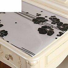 Dresser tischtuch/wasserdicht,weichglas,europäisch,pvc,tv-schrank,baumwoll-tischtuch/einweg,nacht tischdecke-J 50x140cm(20x55inch)