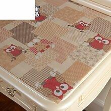 Dresser tischtuch/wasserdicht,weichglas,europäisch,pvc,tv-schrank,baumwoll-tischtuch/einweg,nacht tischdecke-F 70x120cm(28x47inch)