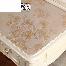 Dresser tischtuch/wasserdicht,weichglas,europäisch,pvc,tv-schrank,baumwoll-tischtuch/einweg,nacht tischdecke-A 80x140cm(31x55inch)
