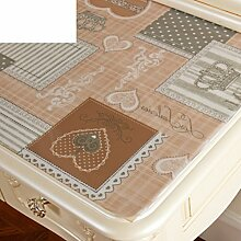 Dresser tischtuch/wasserdicht,weichglas,europäisch,pvc,tv-schrank,baumwoll-tischtuch/einweg,nacht tischdecke-G 50x180cm(20x71inch)