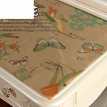 Dresser tischtuch/wasserdicht,weichglas,europäisch,pvc,tv-schrank,baumwoll-tischtuch/einweg,nacht tischdecke-H 50x200cm(20x79inch)
