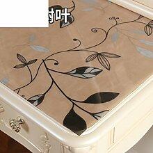 Dresser tischtuch/wasserdicht,weichglas,europäisch,pvc,tv-schrank,baumwoll-tischtuch/einweg,nacht tischdecke-E 80x140cm(31x55inch)
