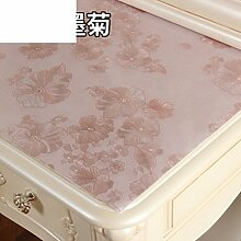 Dresser tischtuch/wasserdicht,weichglas,europäisch,pvc,tv-schrank,baumwoll-tischtuch/einweg,nacht tischdecke-B 50x220cm(20x87inch)