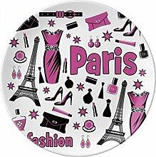 Dressing Lady Frankreich Eiffelturm Rosa Porzellan
