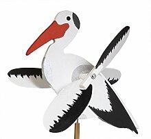 Drewa Windrad/Windspiel Storch aus Holz