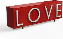 Driade Love Sideboard B 243cm rubinrot / lichtgrau