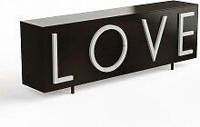 Driade Love Sideboard B 243cm verkehrsschwarz /