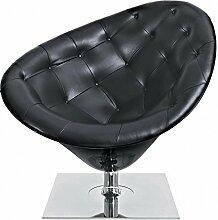 Driade Moore Sessel, schwarz matt drehbar