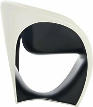 Driade MT1 Sessel, sandweiss schwarz Polyethylen