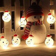 Dricar LED Schneemann Weihnachten Lichterkette,