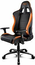 Drift DR200Stuhl für Gaming, Kunstleder, Schwarz/Orange, 48x 61,5x 129cm
