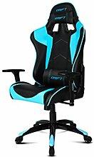 Drift DR300Stuhl für Gaming, Kunstleder, Schwarz/Blau, 48x 61,5x 129cm