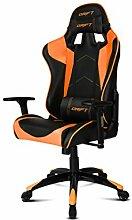 Drift DR350Stuhl für Gaming, Kunstleder, Schwarz/Orange, 48x 61,5x 129cm