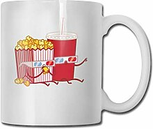 Drink and Popcorn Fashion Coffee Cup Porcelain Mugs