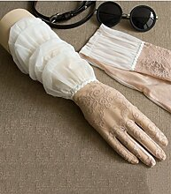 Driving Lace Sun Handschuhe Weibliche Sommer Dünne Sektion Long Section Sonnenschutz Handschuhe Anti - Ultraviolet Elektro Auto Handschuhe ( Farbe : 4 )