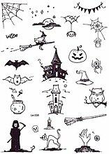 DRTHUKG Tattoo Aufkleber Halloween Leuchttattoo