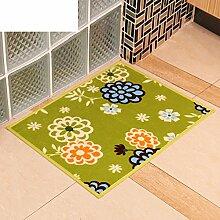 Druck door mat/coral velvet bedroom foot mat/anti-rutsch saug badematte-C 45x60cm(18x24inch)