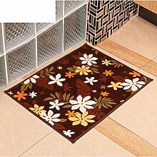 Druck door mat/coral velvet bedroom foot mat/anti-rutsch saug badematte-A 60x90cm(24x35inch)