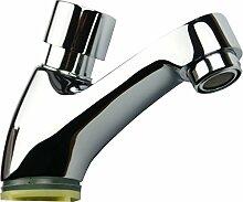 """Druck Wasserhahn Selbstschlussarmatur Waschbecken Armatur 1 1/2"""" Einhandmischer Kaltwasser Armatur"""