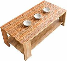 Drucken Tischdecke, Couchtisch Kunststoff Nachahmung Holz Soft Glas Verdickung Kristall Pad Tischdecke Holzmaserung Wasserdicht Anti-hot Tischdecke Länge 120-140 CM ( Farbe : B , größe : 80*130CM )