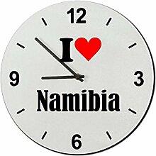 Druckerlebnis24 Glasuhr I Love Namibia eine tolle