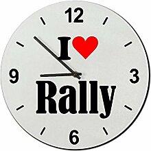 Druckerlebnis24 Glasuhr I Love Rally eine tolle