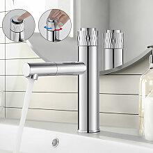 Druckknopf Wasserhahn Bad für Waschbecken 360°