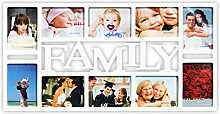 DRULINE 3D Family Fotorahmen Bilderrahmen Collage