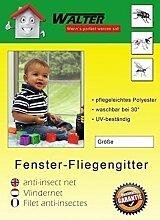 DRULINE 4 x Fliegengitter Insektenschutz Mückenschutz schwarz weiss Dachfenster (Weiß, 150X180)