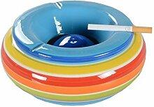 DRULINE Aschenbecher Windaschenbecher Keramik