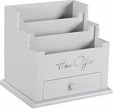 DRULINE Briefbox Organizer mit Schublade 18 x 19 x