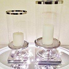 DRULINE Eckig und Rund Windlicht Kerzenständer