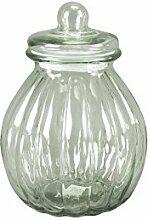 DRULINE Glasdose mit Deckel Bauchig Aufbewahrungsglas Vorratsglas Konfekt Shabby Chic Mittel (Höhe: 29 cm)