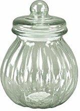 DRULINE Glasdose mit Deckel Bauchig Aufbewahrungsglas Vorratsglas Konfekt Shabby Chic Klein (Höhe: 24,5 cm)