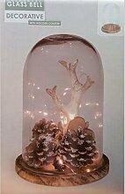 DRULINE Glasglocke mit Holzuntersatz