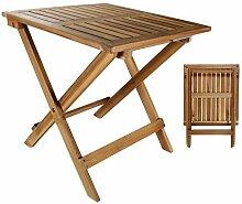 DRULINE Holztisch Beistelltisch Tisch Akazienholz