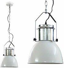DRULINE Industriedesign Lampe Edelstahl