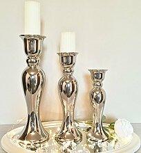 DRULINE Kerzenständer ALEX Kerzenleuchter Silber