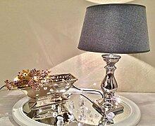 DRULINE Lovely Silber GRAU Tischlampe Lampe