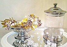 DRULINE Silver Bonbonglas Bonboniere Vorratsglas