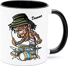 Drummer Schlagzeuger Kaffee Tasse Becher