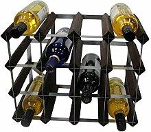 DS Wineware Traditionelles Weinregal für 16