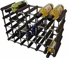 DS Wineware Traditionelles Weinregal für 30