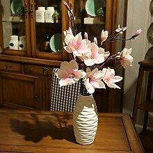 DSAAA Künstliche Blumen Magnolia Blumen Dekoration Fake Blumen Rosa