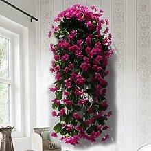 DSAAA Synthetische Pflanze Blatt Garten Wand Dekor lila