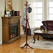 DSC Coat Racks Massivholz Einfache Montage Kleiderbügel Landing Creative Racks Kleiderständer; Hall Stand; Hutständer; Hutständer ( Farbe : Braun )