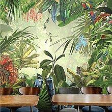 Dschungel Baum Fototapete Tier 3D Hand gezeichnete
