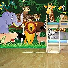 Dschungel Tiere Wandbild Löwe Foto-Tapete Kinderzimmer Kinderzimmer Wohnkultur Erhältlich in 8 Größen Klein Digital