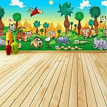Dschungel Tiere Wandbild Löwentiger Foto-Tapete Kinderzimmer Kinderzimmer Dekor Erhältlich in 8 Größen Extraklein Digital